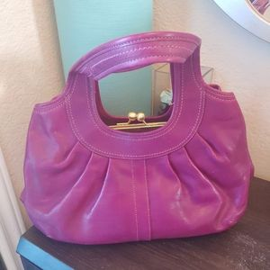 Coach Bags - COACH Hobo Purple Leather Tote Bag Purse w/Clutch